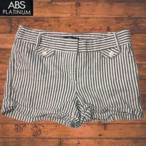 ABS Platinum Black and Ivory Shorts - Size 6